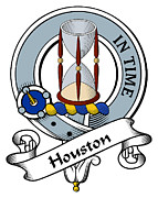 Genealogy Prints - Houston Clan Badge Print by Heraldry