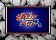 Baseballs Framed Prints - HOUSTON COLT 45s Framed Print by Joe Hamilton