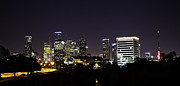 Andrew Rostek Prints - Houston Glow Print by Andrew Rostek