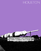 Houston Johnson Space Center - Violet Print by DB Artist