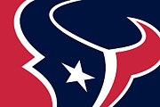 Logo Paintings - Houston Texans by Tony Rubino