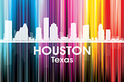 Iconic Design Prints - Houston TX 2 Print by Angelina Vick