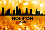 Iconic Design Prints - Houston TX 3 Print by Angelina Vick