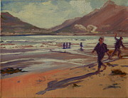 Thomas Bertram Poole Metal Prints - Hout Bay Beach Sunset Metal Print by Thomas Bertram POOLE