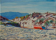 Thomas Bertram Poole Prints - Hout Bay Beach with Table Mountain Print by Thomas Bertram POOLE