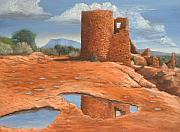 Navajo Painting Acrylic Prints - Hovenweep Reflection Acrylic Print by Jerry McElroy