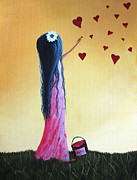 Nursery Decor Paintings - How She Says I Love You by Shawna Erback by Shawna Erback
