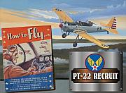 Army Air Corps Posters - How To Fly  PT-22 Recruit Poster by Stuart Swartz