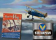 Army Air Corps Posters - How To Fly Stearman PT-17 Poster by Stuart Swartz