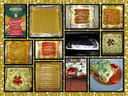 Italian Kitchen Posters - How To Make Your Own Vegan Lasagne Poster by Ausra Paulauskaite