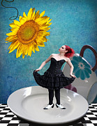 Alice In Wonderland Framed Prints - How Very Peculiar Framed Print by Juli Scalzi