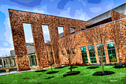 Charles Digital Art - Howard County Library - Miller Branch by Stephen Younts