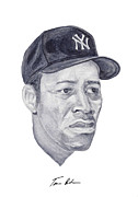 New York Yankees Painting Framed Prints - Howard Framed Print by Tamir Barkan