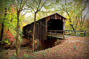 Covered Bridge Prints - Howards Covered Bridge Print by Reid Callaway