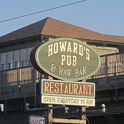Signs Prints - Howards Pub Print by Cathy Lindsey