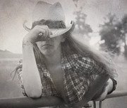 Cowgirl Mixed Media - Howdy  by Todd and candice Dailey