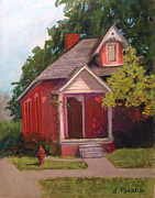 Old House Pastels Prints - Howell House 1 Print by Linda Preece