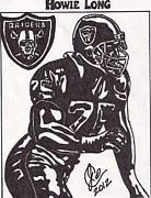 Player Drawings Posters - Howie Long Poster by Jeremiah Colley