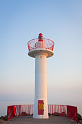 Creme Framed Prints - Howth Lighthouse Beacon Framed Print by Semmick Photo