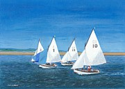Hoylake 'operas' At West Kirby Marine Lake Print by Peter Farrow