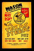 Texas Theatre Framed Prints - Hoyts A Texas Steer Framed Print by Unknown