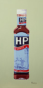 Great Painting Originals - HP Sauce by Alacoque Doyle