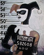 Gotham City Painting Framed Prints - HQ Mug Shot Framed Print by Jeremy Moore