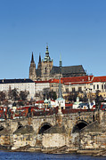 Prague Towers Photos - Hradcany - Prague castle by Michal Boubin
