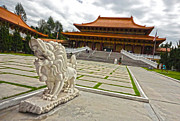 Hsi Lai Temple - 05 Print by Gregory Dyer