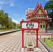 Huahin Framed Prints - Hua Hin train station 07 Framed Print by Antony McAulay
