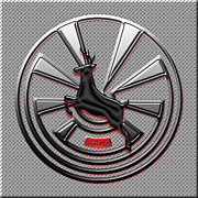 Garage Wall Art Posters - Hub Cap Poster by Methune Hively