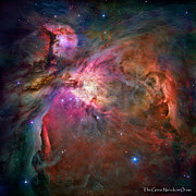 Nebula Photograph Prints - Hubble Space Telescope star photographs - The Orion Nebula Print by David Perry Lawrence