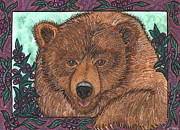 Huckleberry Prints - Huckleberry Bear Print by Melissa Cole
