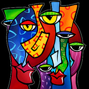 Pop  Paintings - Huddle Up by Fidostudio by Tom Fedro - Fidostudio