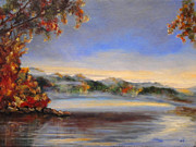 Diane Kraudelt Art - Hudson River Valley Morning 2 by Diane Kraudelt