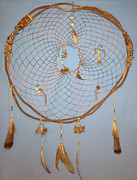 Catcher Tapestries - Textiles - Huge Dream Catcher by Michelle White