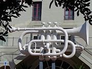 Huge Trumpet Print by Janis  Tafoya