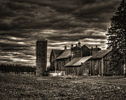 Winter Photo Posters - Huge Wisconsin Farm Poster by Thomas Young