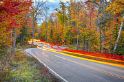 Autumn Photos Prints - Hugging the Curves Print by Adam Romanowicz