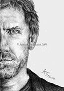 House Md Drawings - Hugh Laurie by Blanket Joanna