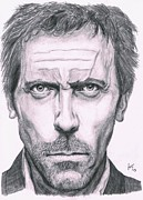 House Md Drawings - Hugh Laurie by Ryan Jacobson