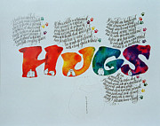 Dave Wood Prints - Hugs Print by Dave Wood