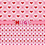 Pink Ribbon Prints - Hugs Print by Debra  Miller