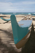 Handcrafted Art - hui o waa Kuau Outrigger Canoe Paia by Sharon Mau