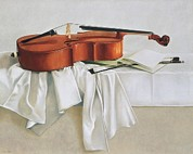 Interior Still Life Photo Metal Prints - Huinrené 20th Century. Violoncello Metal Print by Everett