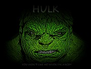 Bruce Banner Acrylic Prints - Hulk Custom  Acrylic Print by Movie Poster Prints