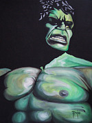 Hulk Painting Framed Prints - Hulk Framed Print by Erik Pinto