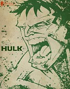 Thor Mixed Media - Hulk by Farhad Tamim
