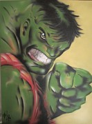 Hulk Painting Framed Prints - Hulk Framed Print by John Sodja
