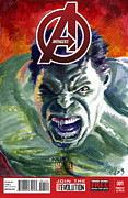 Avengers Painting Originals - Hulk by Ken Meyer jr